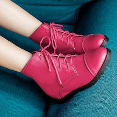 新款甜美单靴内增高短靴平跟机车靴裸靴马丁靴女靴/BD/D81/P6608