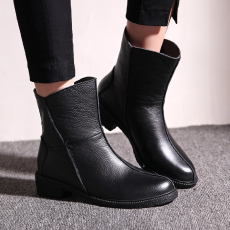 韩版冬季防寒真皮短靴甜美马丁靴牛皮女靴/FDME/528/Z6622