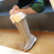 韩版冬季保暖长靴厚毛雪地靴平底防滑防寒女靴/JQL/919/P6696