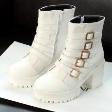 韩版秋冬甜美新款女靴超美粗跟罗马短靴/MLH/9501/P6544