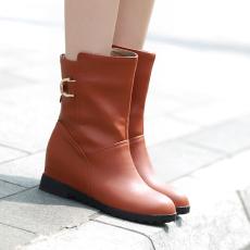 韩版甜美保暖短靴平底内增高短靴/YN/D82/P6684