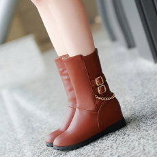 韩版冬季新款短靴坡跟靴/YN/101/P6682