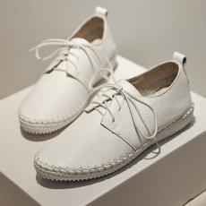 2014韩版秋季真皮通勤女鞋平底单鞋深口平跟鞋/MK/628-1/P1655