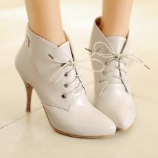 欧美秋冬爆款单品裸靴细高跟简约尖头短靴复古女靴/OD/506/P6552