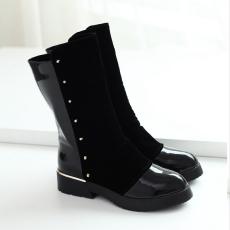 韩版冬季单靴防寒女靴甜美百搭短靴显瘦低跟靴/MZR/2192/P6631
