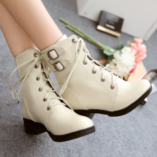 2014低跟马丁靴甜美百搭短靴通勤简约系带女靴/XLSM/D-11/P6623