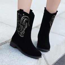 韩版低跟短靴甜美冬季百搭女靴子防寒单靴/MZR/N180/P6628