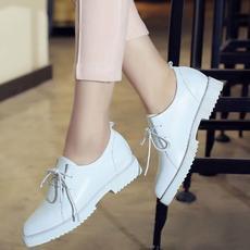 英伦休闲春季新款小白鞋复古牛皮女鞋里外全皮春鞋DTN/6007/Z1851