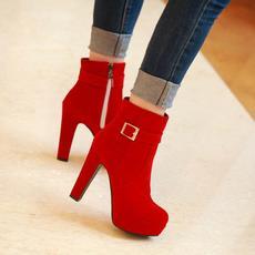 韩版丽人甜美短靴皮带扣超高跟显瘦女靴SKMY/-13/P1868