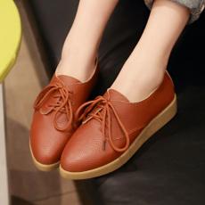 韩版日系通勤平底鞋秋季百搭单鞋系带深口女鞋/HC/C-1/P1661