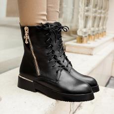 欧美时尚大头靴马丁靴气质短靴个性方跟大底美靴/MZR/N2196/P6614