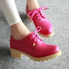 2014换季甜美秋季单鞋深口中跟系带女鞋/QXFS/007/P1651