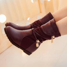 韩版通勤简约女靴内增高素面短靴甜美热销靴子/BD/805/P6603