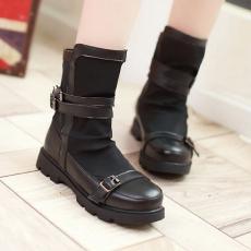 日系冬季莱卡弹力靴甜美软底百搭女靴个性短靴/XH/533-1/P6672