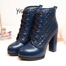 2014英伦秋冬新款裸靴甜美百搭粗跟短靴系带单靴/LF/581/P6636