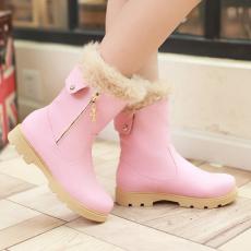韩版甜美冬季马丁靴新款百搭短靴圆头通勤女靴/XH/33-3/P6642