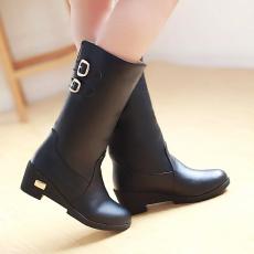 韩版冬季防寒中筒靴中跟百搭女靴/YN/D89/P6688