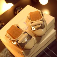 方扣糖果鞋蛋卷软底鞋真皮内里礼盒鞋女MZR/7-6/P1824