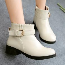 2014骆陀驼秋冬新品裸靴中跟百搭通勤短靴女/XLSM/D-12/P6556