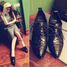英伦休闲中性低跟女鞋头层牛皮舒适休闲鞋深口单鞋DTN/X4/Z1860