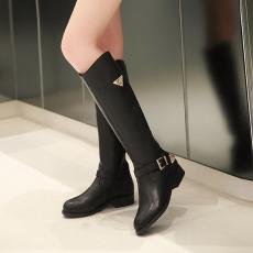 韩版冬季新款长靴低跟甜美瘦腿女靴百搭骑士靴/Y-H/857-1/P6678