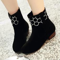 韩版冬季防寒短靴甜美低跟单靴百搭女靴/MZR/181/P6629