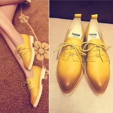 英伦擦色牛皮休闲鞋平跟防滑学院鞋全皮甜美/DTN/6006/Z1850