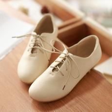 日系百搭通勤女鞋深口纯色单鞋软底休闲鞋平底女鞋/Y-H/592-3/P1494